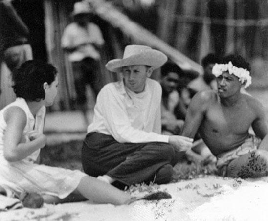 Murnau sur le tournage de Tabou