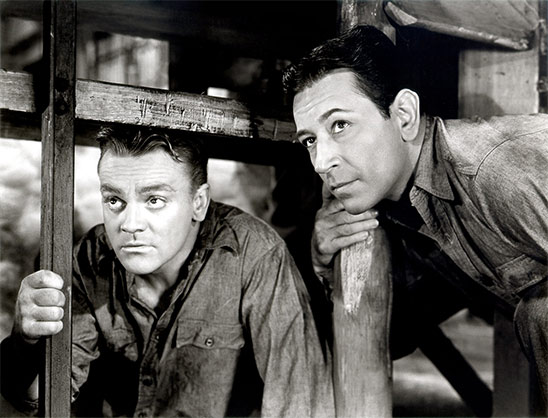 James Cagney et George Raft dans Each Dawn I Die