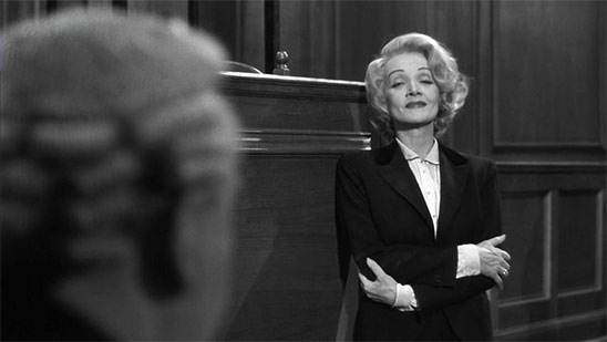 Marlene Dietrich dans Témoin à Charge de Billy Wilder