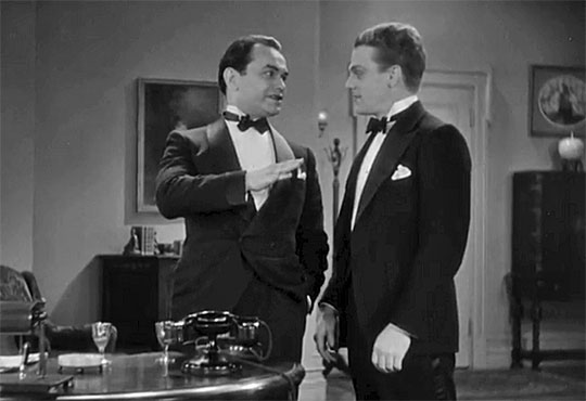 Edward G. Robinson et James Cagney dans Smart Money