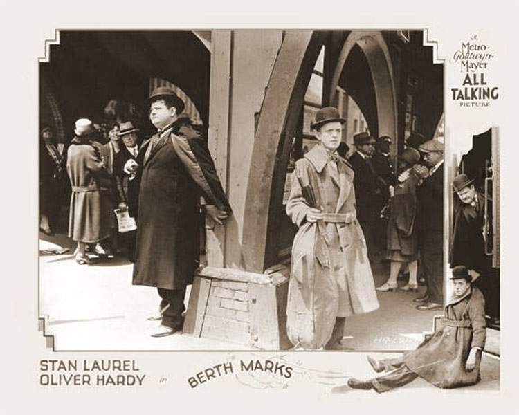 Laurel et Hardy en wagon-lit (Berth Marks)